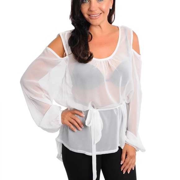 403a2fd8c8414e Tops | Plus Size Sheer Top Cut Out Long Sleeves | Poshmark